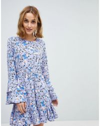Vero Moda - Floral Dress With Ruffle Sleeve Detail - Lyst