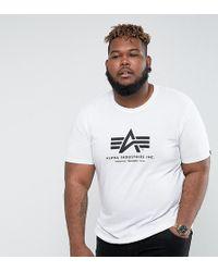 Alpha Industries - Logo T-shirt In White - Lyst