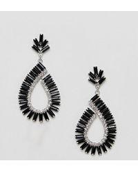 True Decadence - Jewelled Black Drop Earrings (+) - Lyst