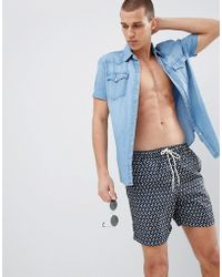 SELECTED - Floral Print Swim Shorts - Lyst
