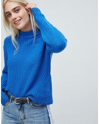 Pieces - High Neck Ribbed Sweater - Lyst