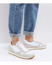 Saucony - Dxn Vintage Trainers In Cream - Lyst