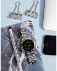 Fossil - Q Ftw6003 Venture Bracelet Smart Watch In Silver - Lyst