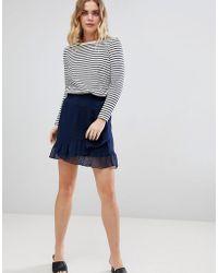Ichi - Ruffle Wrap Skirt - Lyst