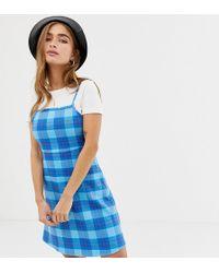 Noisy May Petite - Tartan Dress - Lyst
