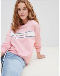 Soaked In Luxury - Slogan Sweatshirt - Lyst