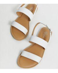 758056af4fdf Park Lane Embellised Flat Sandals in Natural - Lyst