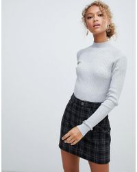 Lyst - New Look Stand Neck Crop Jumper in Pink fd260770e343