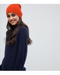 Stitch & Pieces - Orange Rib Beanie Hat - Lyst