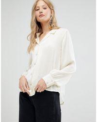 d.RA - Margot Open Collar Shirt - Lyst