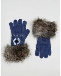 Alice Hannah - Motif Fur Trim Glove - Lyst