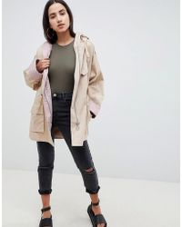 ASOS - Design Waterfall Parka With Contrast Liner - Lyst