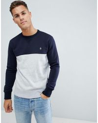 French Connection - Contrast Colour Block Sweat - Lyst