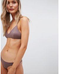 RVCA - Solid Cross Back Bikini Top - Lyst