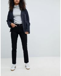 Weekday - Seattle High Waist Mom Jeans With Organic Cotton In Black - Lyst