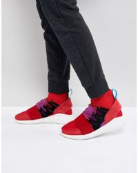 best service b07c3 16552 adidas Originals - Tubular Doom Winter Trainers In Red By9397 - Lyst