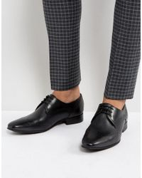 H by Hudson - Erato Leather Brogue Shoes In Black - Lyst