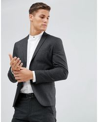 SELECTED - Suit Jacket In Pinstripe - Lyst