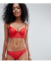 Wolf & Whistle - Fuller Bust Strappy Long Line Bikini Top Dd-g - Lyst