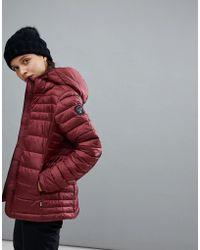 Napapijri - Aerons Hooded Jacket In Burgundy - Lyst