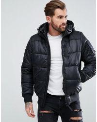 G-Star RAW - Attacc Hooded Jacket Black - Lyst