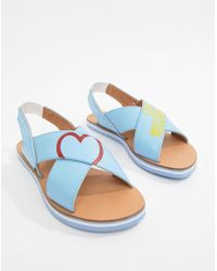 Love Moschino - Flat Sandals - Lyst