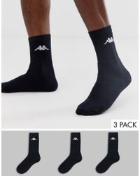 Kappa 3 Pack Sport Socks - Black
