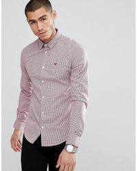 Emporio Armani   Slim Fit Gingham Shirt In Red   Lyst