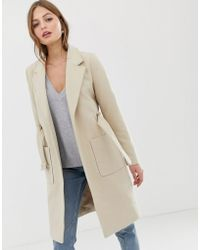 Vila - Belted Tailored Coat - Lyst