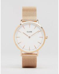 Cluse - Cl18112 La Boheme Mesh Rose Gold Watch - Lyst
