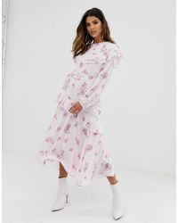 Miss Sixty - Floral Printed Tier Detail Dress - Lyst