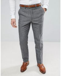 French Connection - Semi Plain Donegal Slim Fit Suit Trousers - Lyst