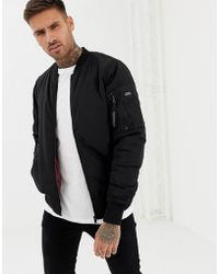 Pull&Bear - Padded Ma1 Bomber In Black - Lyst