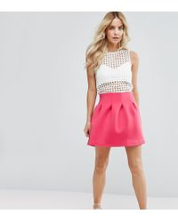 ASOS - Mini Prom Skirt In Scuba - Lyst
