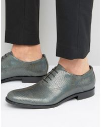 HUGO - By Boss Sigma Snake Metalic Oxford Shoes - Lyst