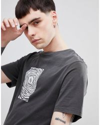Volcom - Engulf T-shirt With Chest Print In Black - Lyst