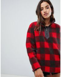 Abercrombie & Fitch - Pullover Teddy Jacket In Check - Lyst