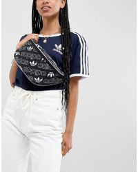 adidas Originals - Fanny Pack In All Over Logo Print - Lyst