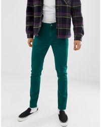 ASOS - Skinny Jeans In Vintage Green - Lyst