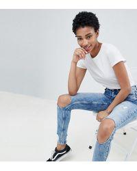 Noisy May Tall - Split Knee Denim Jean - Lyst