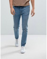 SELECTED - Jeans In Skinny Fit With Raw Hem - Lyst