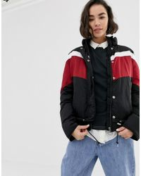 Lee Jeans - Lee Sporty Striped Windbreaker Jacket - Lyst
