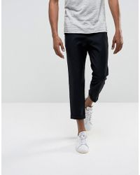 Bellfield - Cropped Trousers With Pleated Front - Lyst