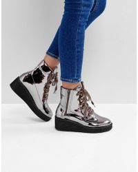 ASOS | Racer Chunky Hiker Boots | Lyst