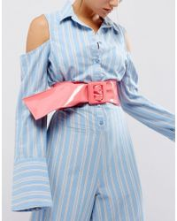 ASOS - 80s Patent Waist Sash Belt With Square Buckle - Lyst