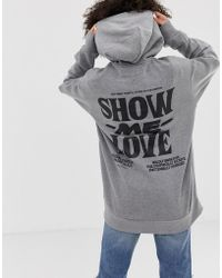 Cheap Monday - Love Oversized Hoodie With Organic Cotton - Lyst