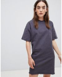 Native Youth - Shift Dress With Raw Hem Detail - Lyst