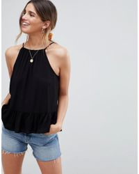 ASOS - Design Trapeze Top In Crinkle - Lyst