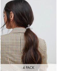 Miss Selfridge - Multi Pack Hair Tie - Lyst