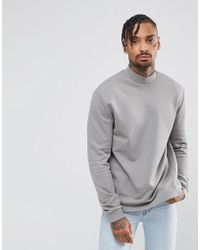 ASOS | Sweatshirt With High Neck | Lyst